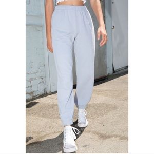RARE brandy melville light blue NY rosa sweatpants